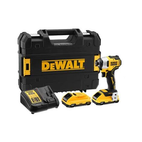 Visseuse à chocs 18V XR Brushless + 2 batteries x 3.0Ah en coffret TSTAK Dewalt