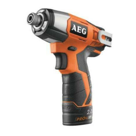 Visseuse à chocs compacte AEG 12V Li-ion - 2 batteries 2.0Ah - 1 chargeur 40min - BSS12C-202C