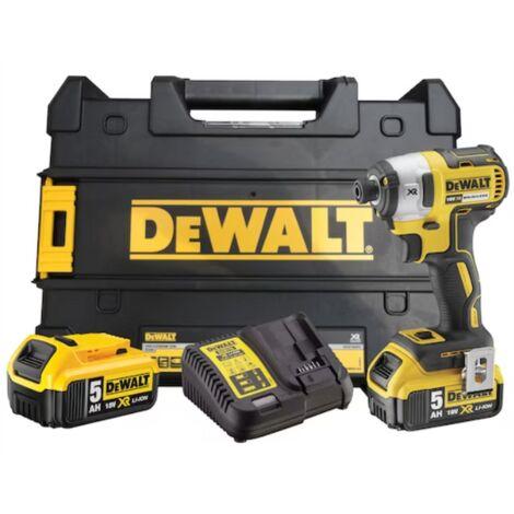 Visseuse à chocs DEWALT Brushless 18V 5.0Ah - 2 Batteries, chargeur, coffret - DCF887P2