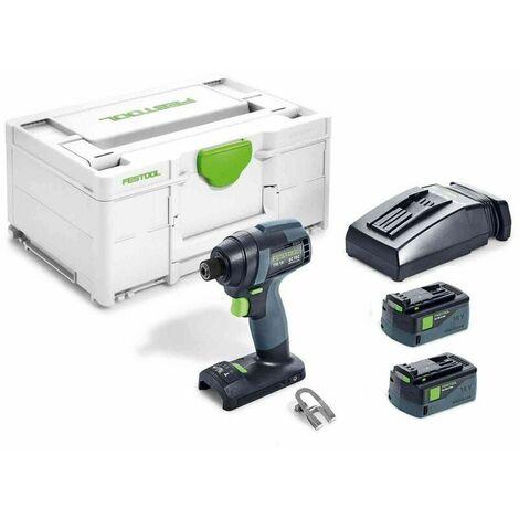 Visseuse à chocs sans fil TID 18 5,2-Plus avec 2 batteries 5,2Ah et chargeur Festool (576481-PLUS) en systainer