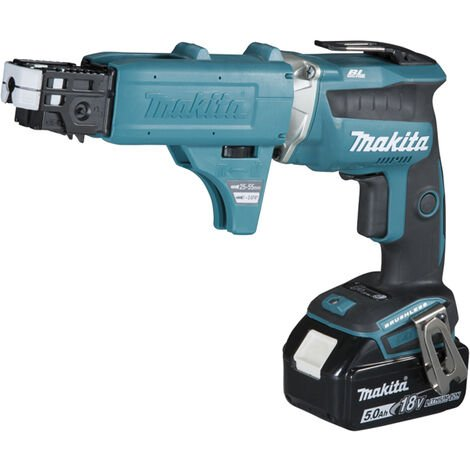 Visseuse automatique 18V Li-Ion 5Ah 5 x 25 à 55 mm MAKITA - 2 batteries 1 chargeur - en coffret - DFS452TJX2