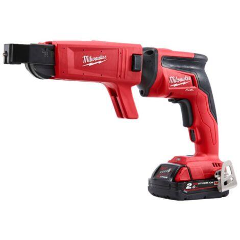 Visseuse placo MILWAUKEE FUEL M18 FSGC-202X - 2 batterie 18V 2.0Ah - 1 chargeur rapide M12-18FC 4933459199