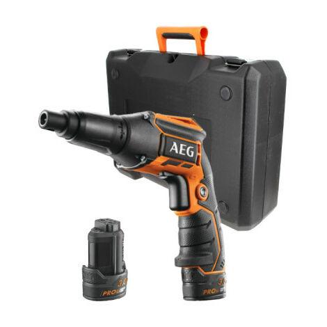 Visseuse plaquiste AEG 12V - 2 batteries 3,0 Ah - 1 chargeur - BTS12CLI-302C - noir et orange