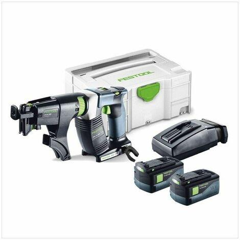 Visseuses sans fil pour plaquistes FESTOOL DWC 18-4500 - 2 Batteries 5.2Ah 18V, chargeur - 574745 - cpty