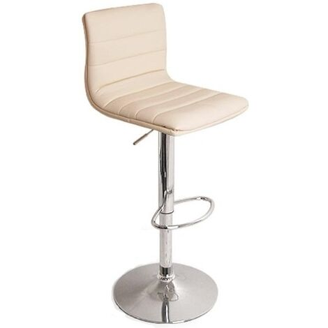 Vista Breakfast Bar Stool Cream Padded Seat Height Adjustable Cream