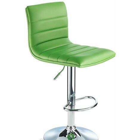Vista Breakfast Bar Stool Green Padded Seat Height Adjustable