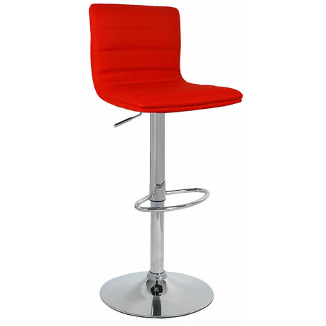 Vista Red Breakfast Bar Stool Red Padded Seat Height Adjustable Red