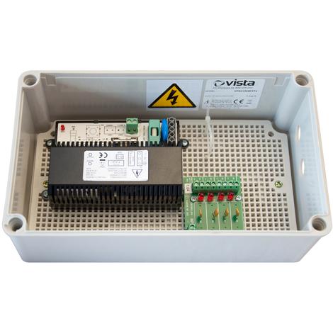 Vista VPSU1244 Alimentation 12VDC IP66 avec boîtier en plastique, sorties 1000mA x 4 (12W)