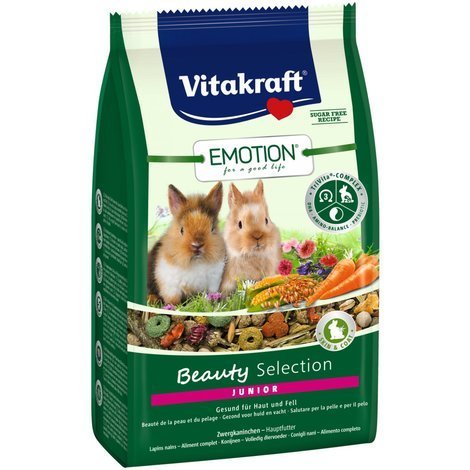 Vitakraft Emotion Beauty Junior, Zwergkaninchen - 600g