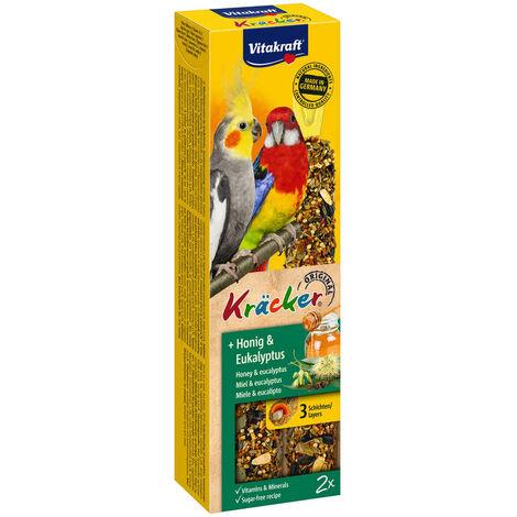 Vitakraft - Friandises Kräcker au Miel et Eucalyptus pour Grandes Perruches - x2