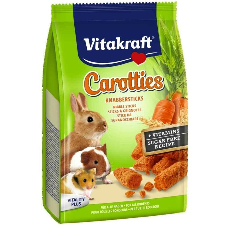 Sticks à Grignoter Carotties à la Carotte pour Lapins Nains - 50g - Vitakraft