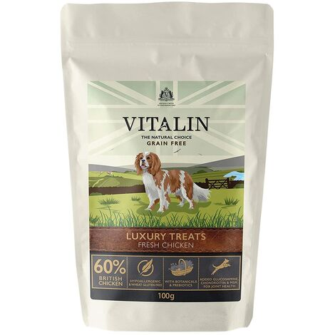 "main image of ""Vitalin Luxury Chicken Dog Treat (100g) (Multicoloured)"""