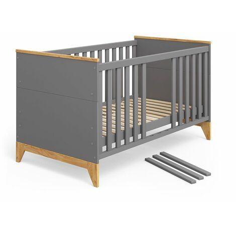 VITALISPA Babybett Malia Kinderbett Gitterbett Beistellbett Jugendbett 140x70cm