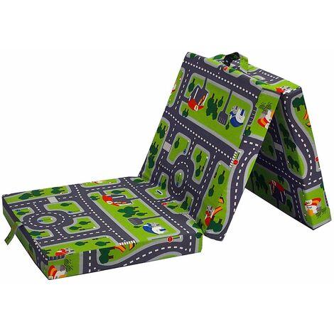 VitaliSpa Faltmatratze Klappmatratze Spielteppich Kinderbett Gästebett Liege Bett Matratze Reisebett Kinder
