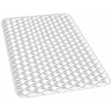 VitaliSpa Topper Matratzenschoner Matratzen-Auflage für Matratze 2cm stark weiß