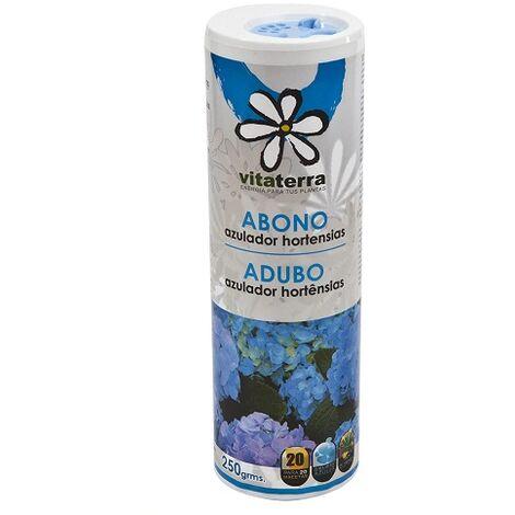VITATERRA Abono Azulador de Hortensias, Talquera 250 gr