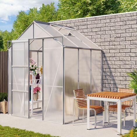 "Vitavia Aktionsangebot (inkl. 100 Euro Zubehör): Gewächshaus ""Flora 3800"" aluminium eloxiert 3,8 m² 4 mm HKP"