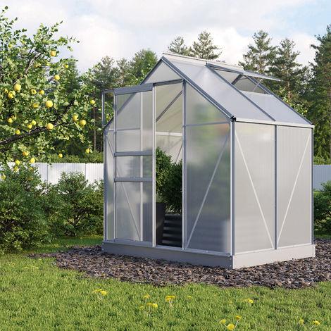 "Vitavia Aktionsangebot (inkl. 100 Euro Zubehör): Gewächshaus ""Planet 2500"" aluminium 2,5 m² 6 mm HKP"