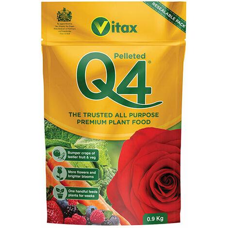 Vitax 6QF901 Q4 Premier All Purpose Fertiliser 0.9kg Pouch