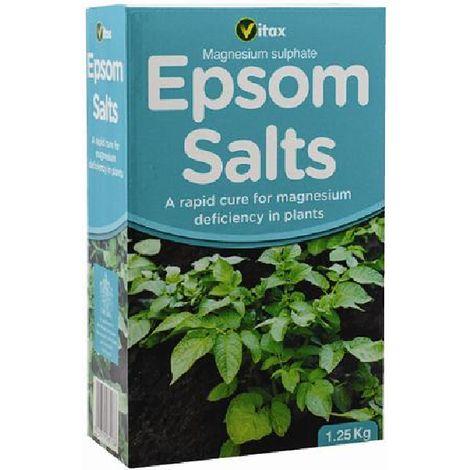 Vitax Garden Plants Epsom Salts - For Magnesium Deficiency - 1.25kg