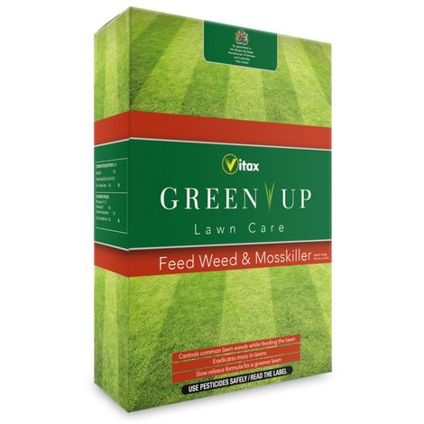 Vitax Green Up Granular Feed And Weed - Mosskiller Eradicates Lawn Moss - 3KG
