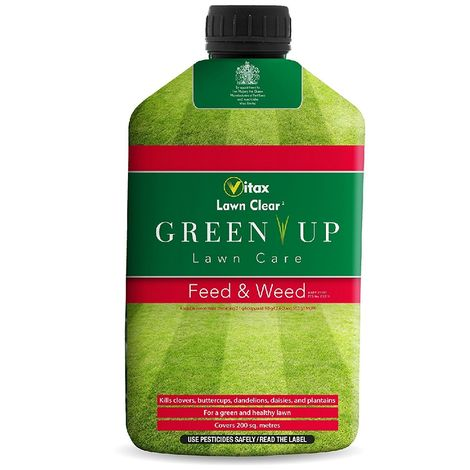 Vitax Green Up Liquid Lawn Feed and Weed Grass Care - 1 Litre