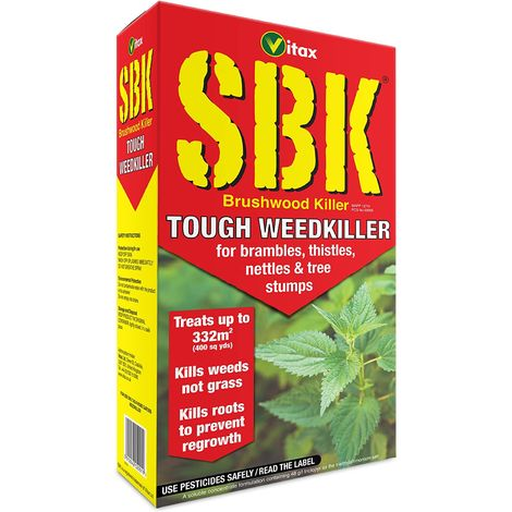 Vitax SBK 1 L Tough Weed Killer Brushwood Tree Stump Bramble Nettle