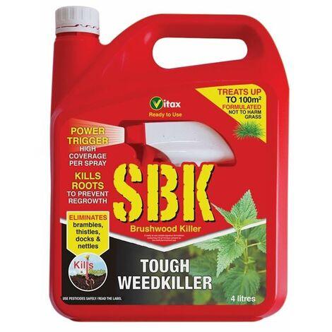 Vitax SBK 4 L RTU Tough Weed Killer Brushwood Tree Stump Bramble Nettle