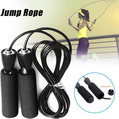Vitesse Saut A La Corde Saut A La Corde Noire Poignee Reglable Fitness Gymnastique Boxe Entrainement Outil De Formation
