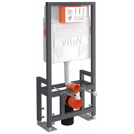 Vitra 1200mm H Wall Hung Toilet Frame with 3/6 Litre Front Operated Concealed Cistern