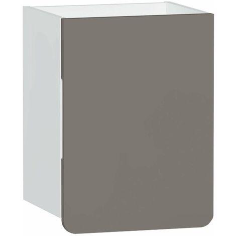 Vitra D-light Side Storage Unit 400mm Wide - Matte White / Mink