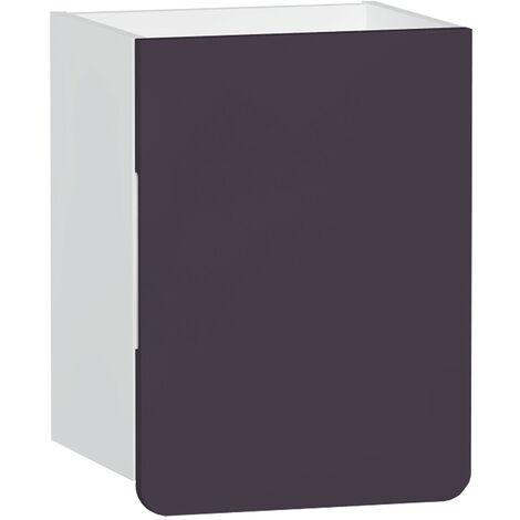 Vitra D-light Side Storage Unit 400mm Wide - Matte White / Purple