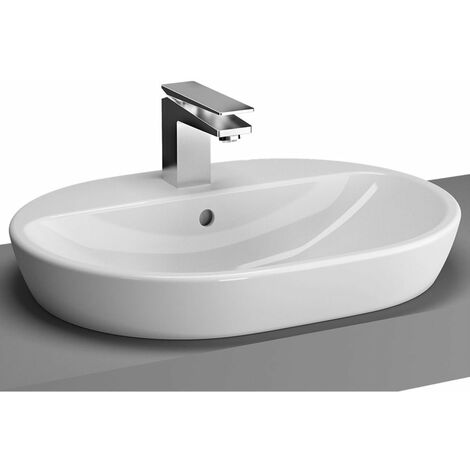 Vitra M-Line Oval Countertop Basin 600mm Wide - 1 Tap hole