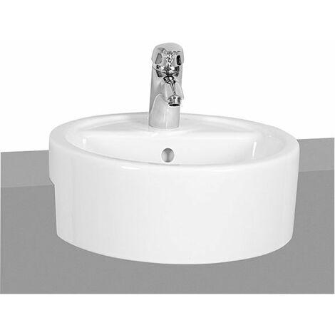 Vitra Matrix Semi Recessed Basin 450mm Wide 1 Tap Hole