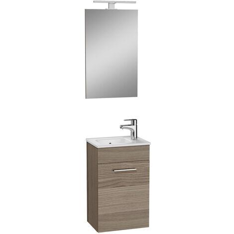 Vitra Mia Meuble 39x61x28 cm pour salle de bain avec miroir, lavabo et éclairage LED, Cordoba (MIASET40C)