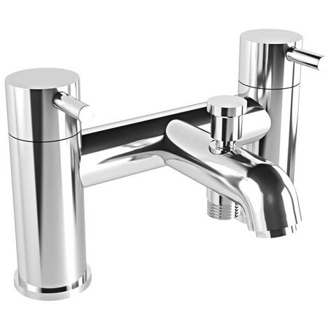 Vitra Minimax S Bath Shower Mixer Tap Deck Mounted - Chrome