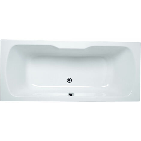 VitrA Optima Double Ended Rectangular Bath 1700mm X 750mm 0 Tap Hole