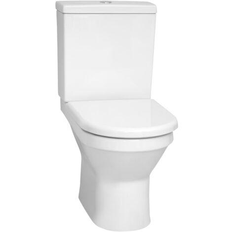 Vitra Pack WC à poser sans bride Vitra S50 compact, remplissage latéral et arrière, Blanc (VitraS50Rimless)