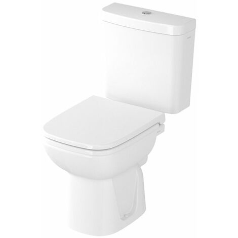 VitrA S20 Close Coupled Toilet WC Push Button Cistern - Standard Seat