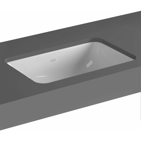 Vitra S20 Compact Under-Counter Basin 500mm Wide 0 Tap Hole