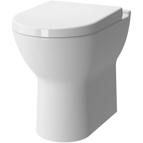 Vitra S50 Comfort Height Back to Wall Toilet - Soft Close Seat
