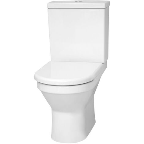 Vitra S50 Open Back Close Coupled Toilet with Cistern - Soft Close Seat