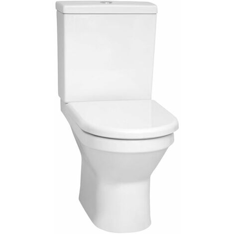 Vitra S50 Rimless Back to Wall Close Coupled Toilet Cistern 6/3 Litre - Soft Close Seat