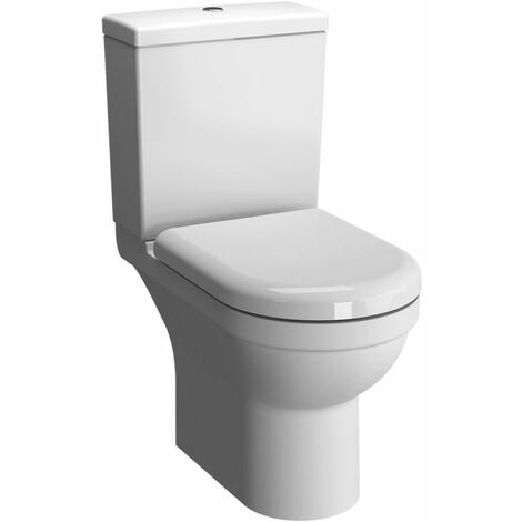 Vitra S50 Rimless Open Back Close Coupled Toilet with Cistern - Soft Close Seat