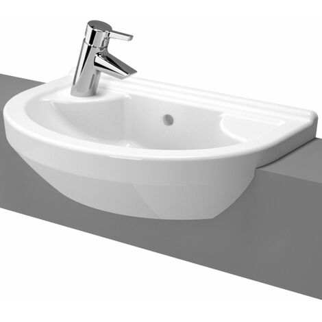 Vitra S50 Semi Recessed Basin Left Handed 550mm Wide 1 Tap Hole