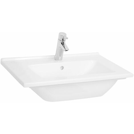 Vitra S50 Vanity Basin 600mm Wide 1 Tap Hole