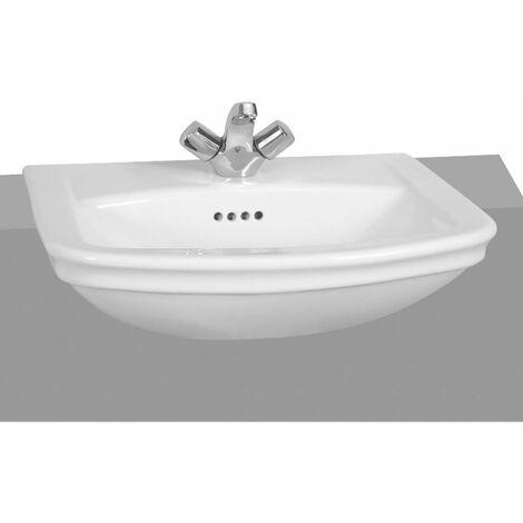 Vitra Serenada Semi Recessed Basin 560mm Wide 1 Tap Hole