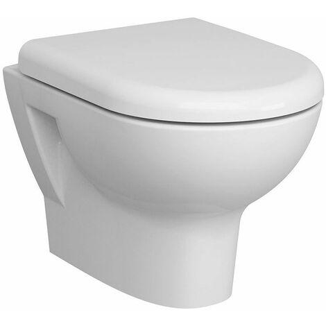 Vitra Zentrum Rimless Wall Hung WC pan - Soft Close Seat