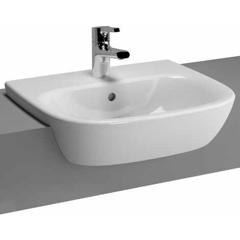 Vitra Zentrum Semi Recessed Washbasin 500mm Wide 1 Tap Hole