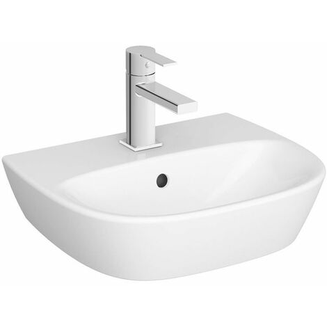 Vitra Zentrum Wall Hung Cloakroom Basin 450mm Wide - 1 Tap Hole